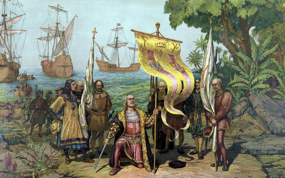 Kolumbus landet in Guadeloupe
