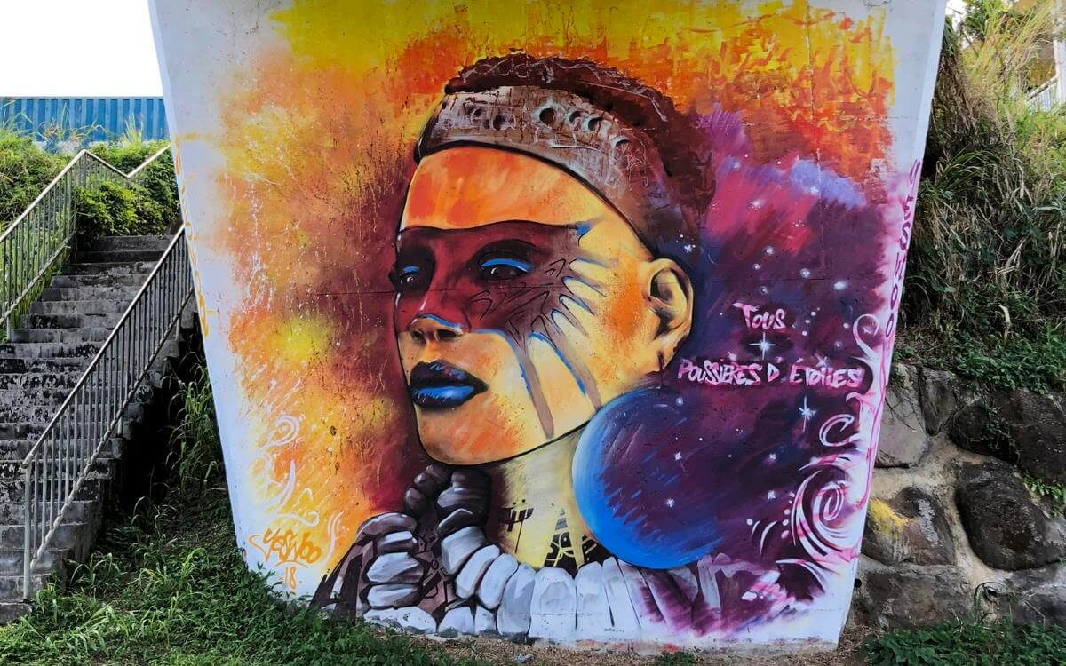 Brücken-Graffiti in Guadeloupe