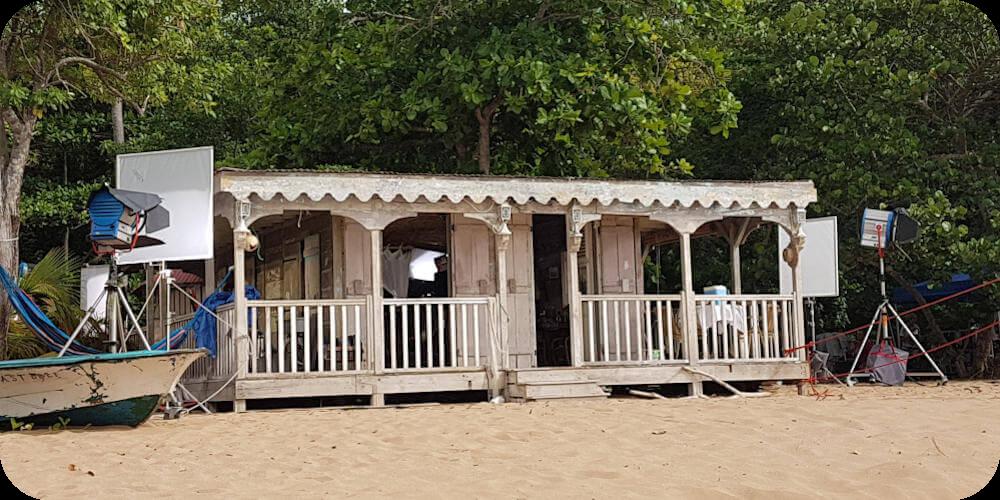 Guadeloupe, Deshaies, Filmset Death in Paradise, Bleupearl's Tour A - Paradiese von Basse-Terre